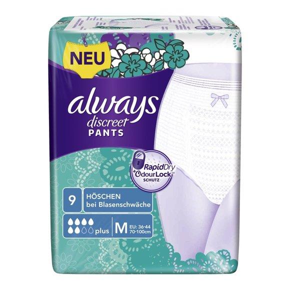 always Discreet Inkontinenz Pants PLUS Medium 9 Stk