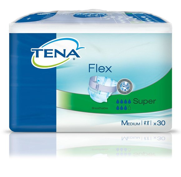 TENA Flex Super M (Medium) Größe 2 / 3 x 30 Stück