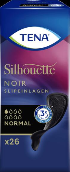 TENA Silhouette Slipeinlagen Normal Noir 1 x 26 schwarze Einlagen