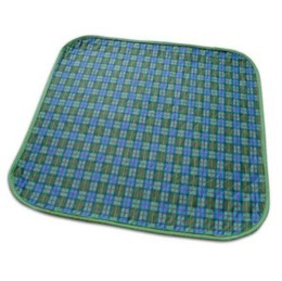 Inkontinenz Stuhlauflage 45 x 45 cm, blau-grün kariert