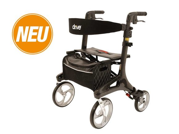 Drive Medical Rollator Nitro Carbon, schwarz in Medium - Sonderpreis