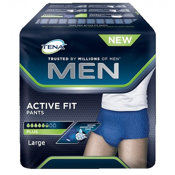 TENA MEN Active Fit Pants PLUS L - 4 x 10 Stk.